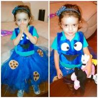Disfraz de comegalletas para niñas DIY