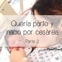 Quería parto y nació por cesárea. Parte 2